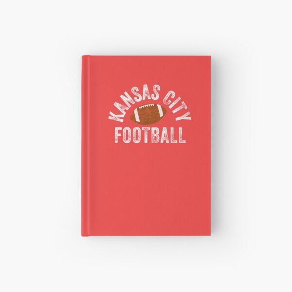 Kansas City Football Tribal KC Vintage football Kc Classic KC Face mask Kansas City facemask Hardcover Journal