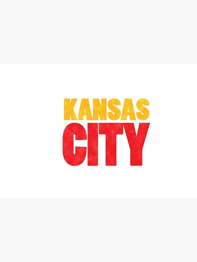 Kansas City Logo Kc Red & Yellow KC Cool Locals Gear KC Face mask Kansas City facemask by kcfanshop