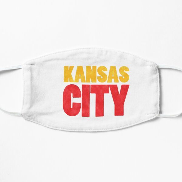 Kansas City Logo Kc Red & Yellow KC Cool Locals Gear KC Face mask Kansas City facemask Mask