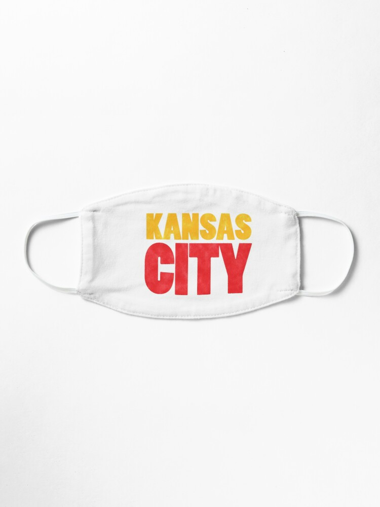 Alternate view of Kansas City Logo Kc Red & Yellow KC Cool Locals Gear KC Face mask Kansas City facemask Mask