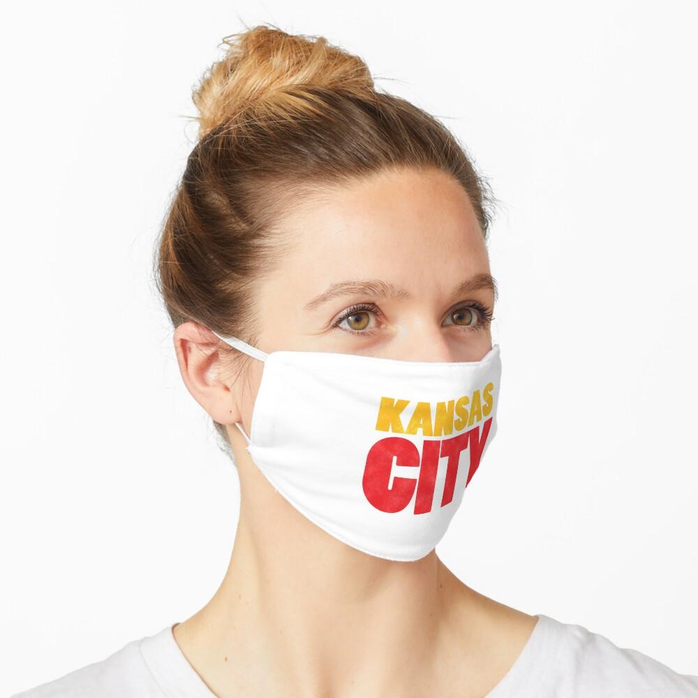 Kansas City Logo Kc Red & Yellow KC Cool Locals Gear KC Face mask Kansas City facemask Mask