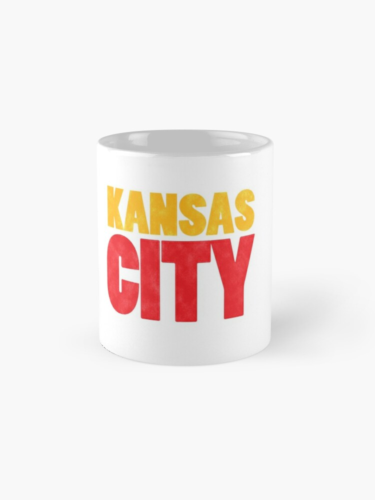 Alternate view of Kansas City Logo Kc Red & Yellow KC Cool Locals Gear KC Face mask Kansas City facemask Mug