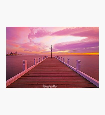 Waterfront Sunrise Photographic Print