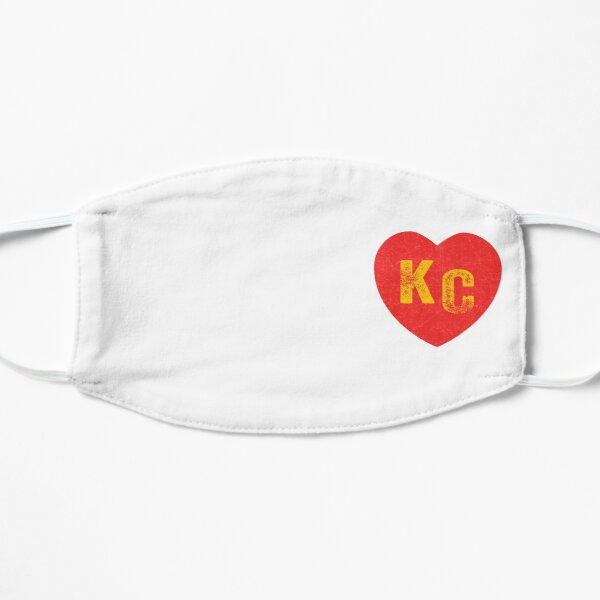 KC Heart Kansas City Hearts I love Kc heart monogram KC Face mask Kansas City facemask Mask