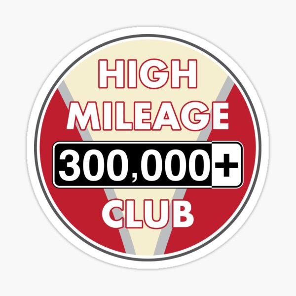 V-Dub High Mileage Club - 300,000+ Miles Sticker