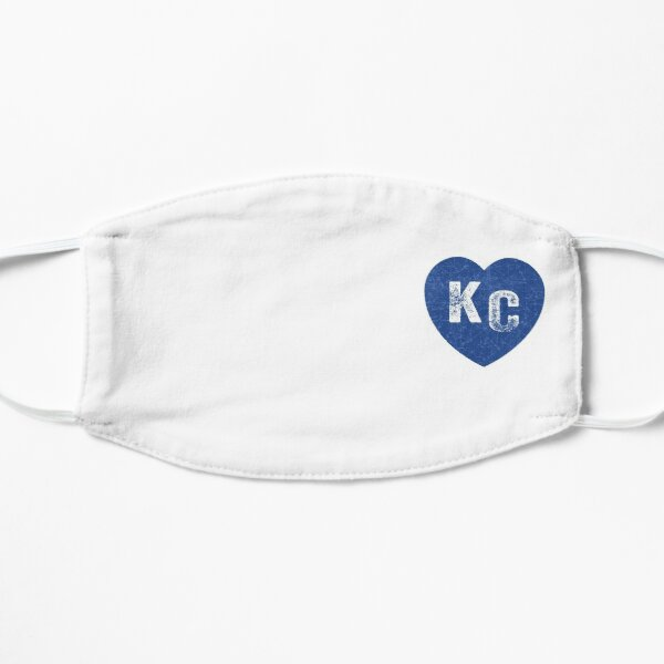 Royal Blue KC Blue Heart Kansas City Hearts I Love Kc heart Kansas city KC Face mask Kansas City facemask Mask