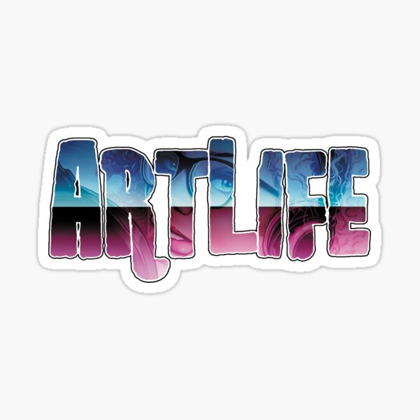 ArtLife with Leanore (Fancy Logo) Sticker