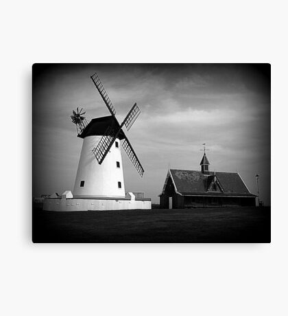 Lytham Windmill and Lifeboat station Canvas Print
