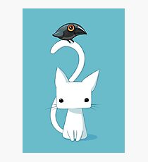 Cat and Raven Photographic Print