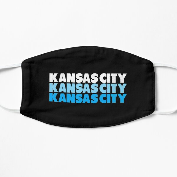 Retro KC Royal Blue & Light Blue Kansas City Crown Town KC Baseball Fans Wear Kansas city KC Face mask Kansas City facemask Mask