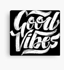 Good Vibes - Feel Good T-Shirt Design Canvas Print