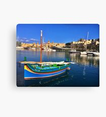 Maltese Traditional Boat Canvas Print
