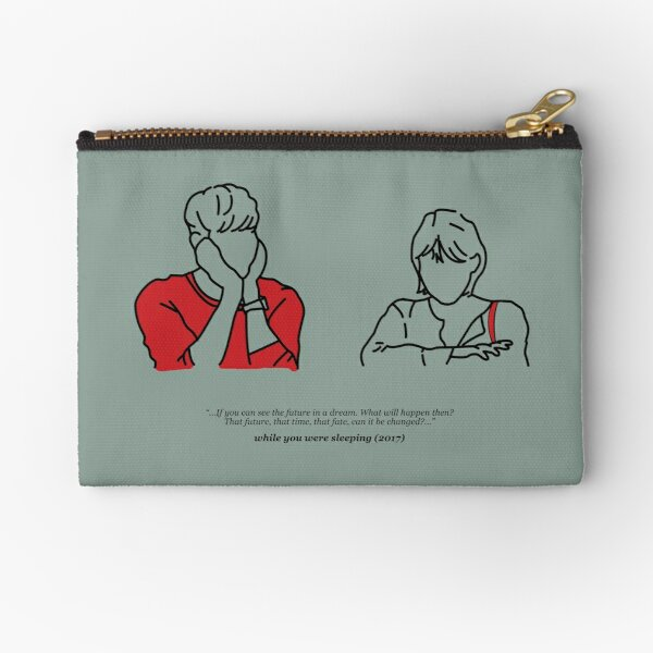 While You Were Sleeping (Muted Blue) Zipper Pouch