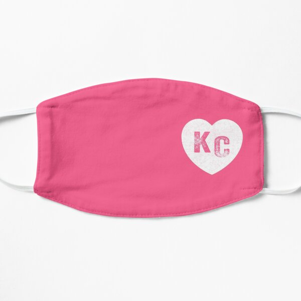 Pink Kansas City KC Heart Collection I Love Kc Hearts KC Face mask Kansas City facemask Mask