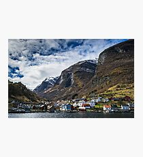 Village in the Fjords Photographic Print