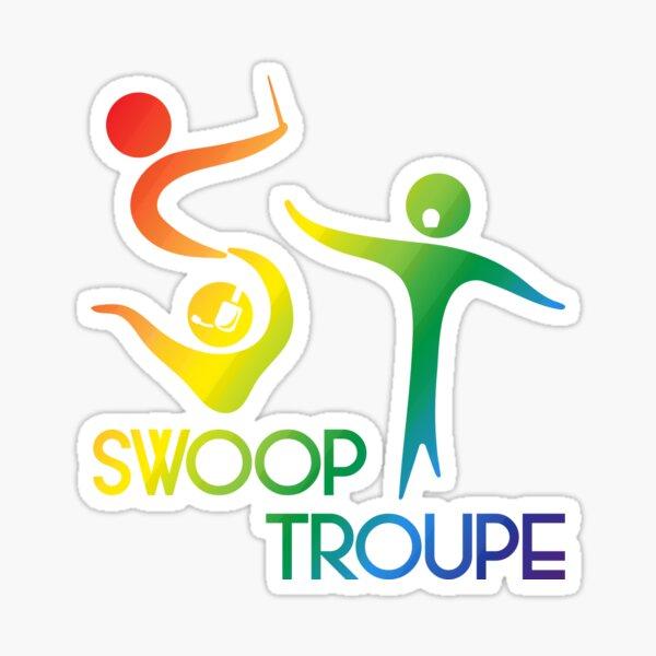 Rainbow Swoop Troupe Logo  Sticker