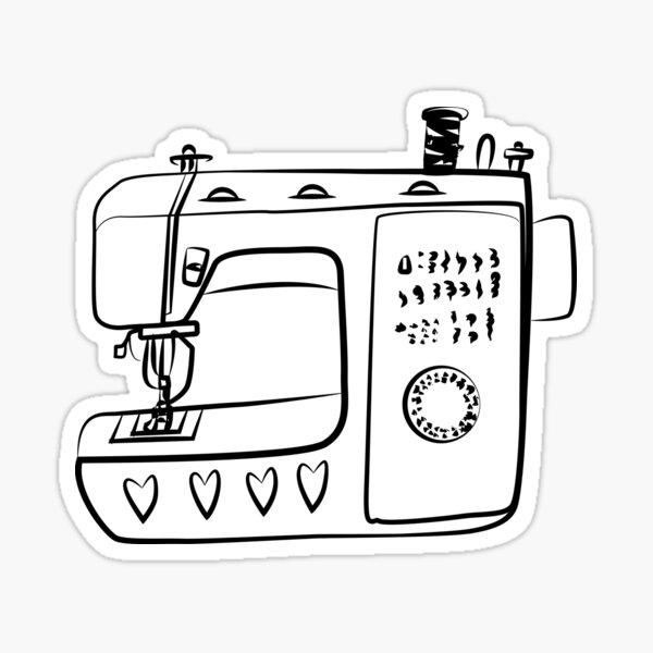 Sewing Machine 2 Sticker