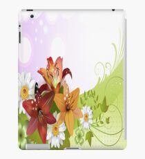 Red, Orange and White Flowers iPad Case iPad Case/Skin