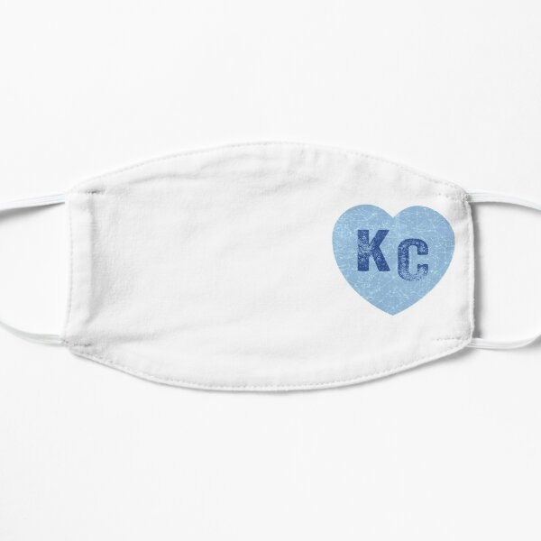 Baby Blue KC Heart Kansas City Hearts I Love Kc heart Kansas city KC Face mask Kansas City facemask Mask