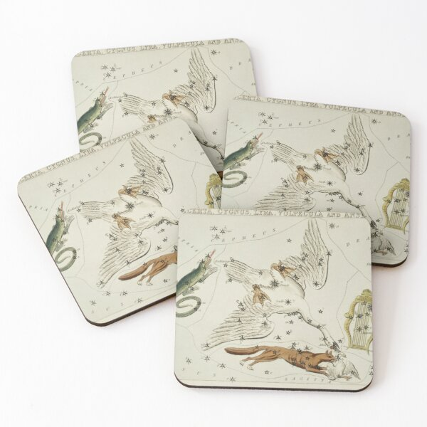 the Lacerta, Cygnus, Lyra, Vulpecula and the Anser Coasters (Set of 4)