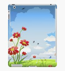 Red Flowers and Butterflies iPad Case iPad Case/Skin