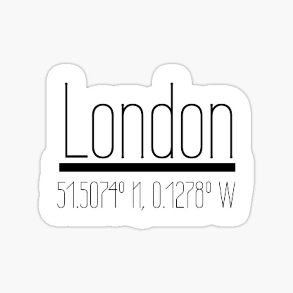 London Coordinates Sticker Sticker