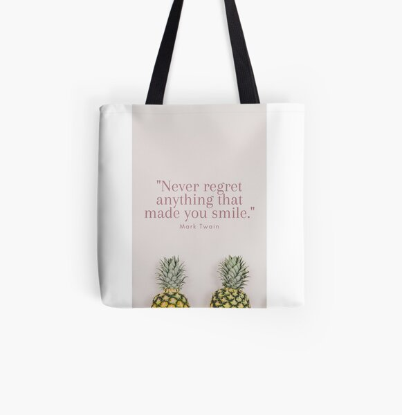 Simple Quote All Over Print Tote Bag