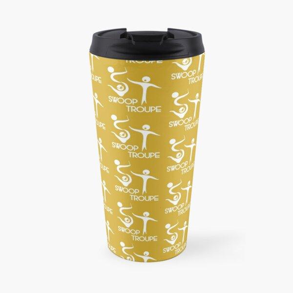 White Swoop Troupe Logo Travel Mug