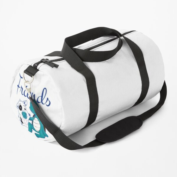 without friends life is just a moo point Slim Fit Duffle Bag