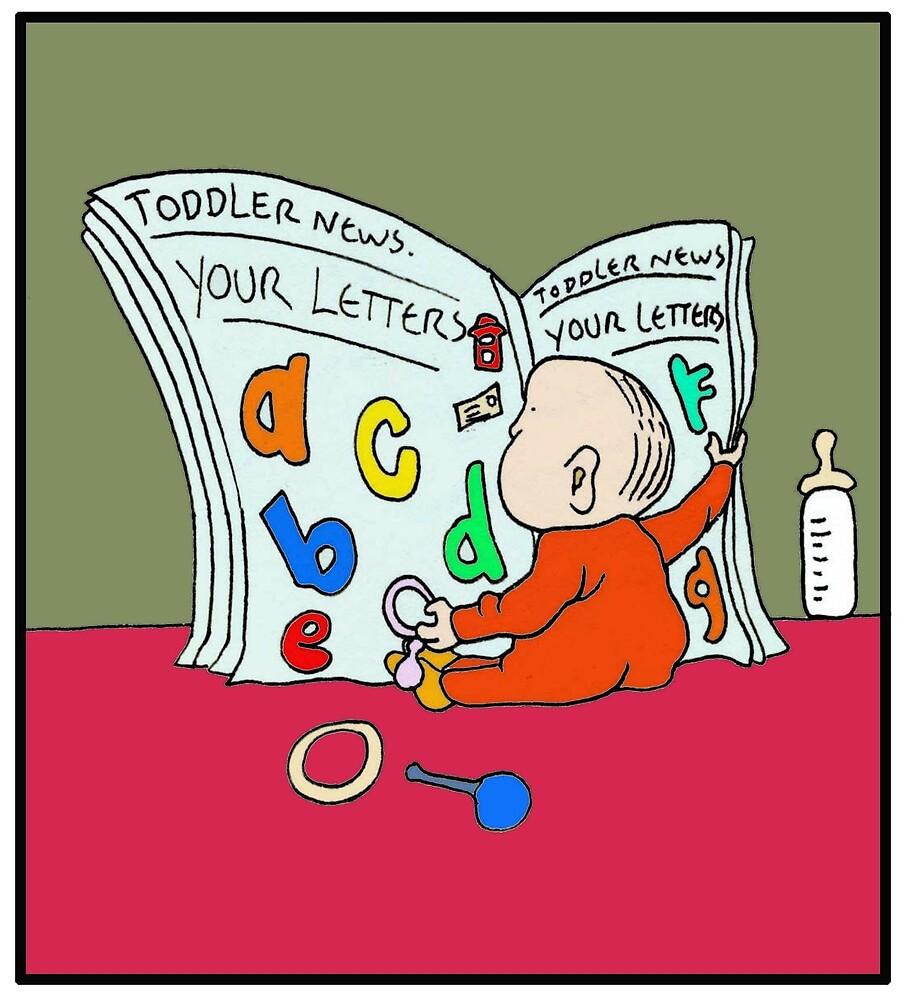 Funny Baby Newspaper Cartoon. by Grant Wilson