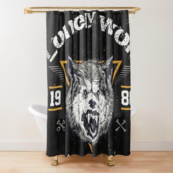 lonly wolf nice tee design Shower Curtain