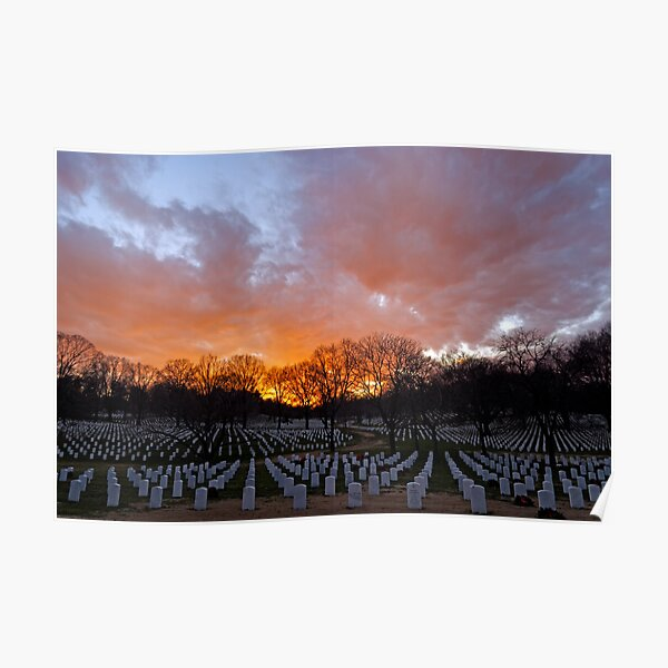 Arlington National Cemetery - Sunset Poster