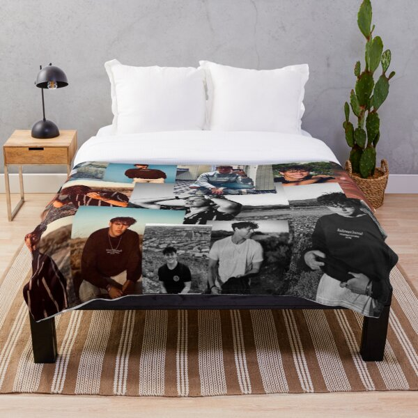 Noah beck collage Throw Blanket