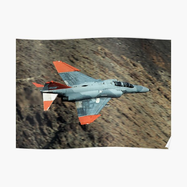 QF-4 Phantom in Death Valley Poster