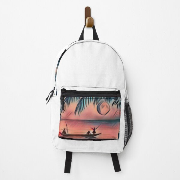 Unique pencil sketch paint art Backpack