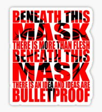 Ideas are bulletproof v.1 Sticker