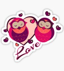 Lovely Owls Sticker