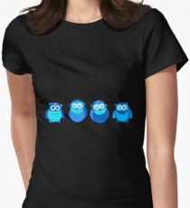 Four Blue Owls Womens Fitted T-Shirt