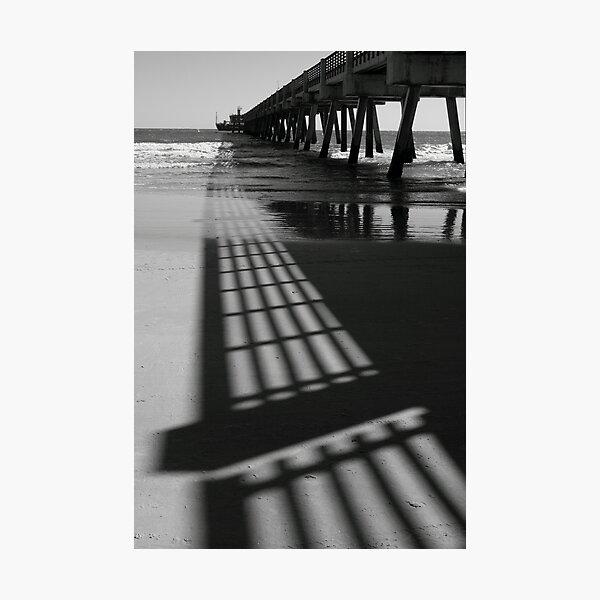 Pier Shadows Photographic Print