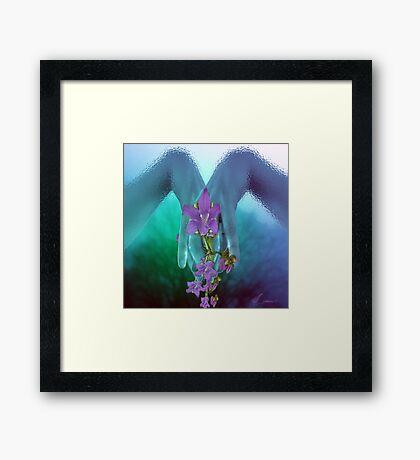 Blooming hands Framed Print