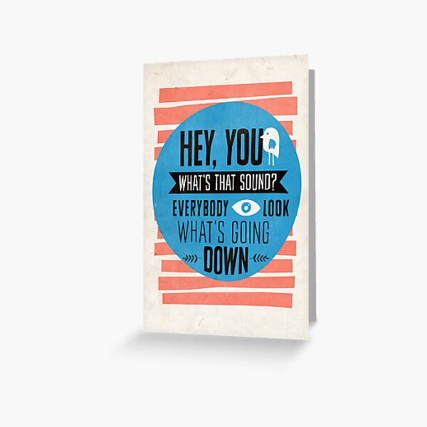 Hey You, What's that Sound? Greeting Card