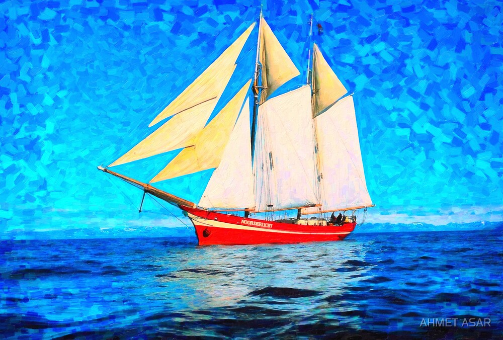 sailing in the cold waters  art by MotionAge Media
