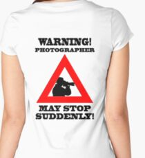Warning! Photographer Women's Fitted Scoop T-Shirt
