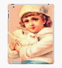 Vintage Blond Girl Holding a Dove - iPad Case iPad Case/Skin