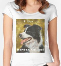 I luv Border Collies! Women's Fitted Scoop T-Shirt
