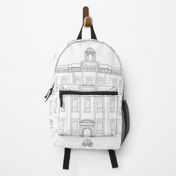 Architectural Line Drawing Backpack