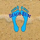Beach Bum on Beach by pjwuebker