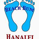 Beach Bum in Hanalei Hawaii by pjwuebker