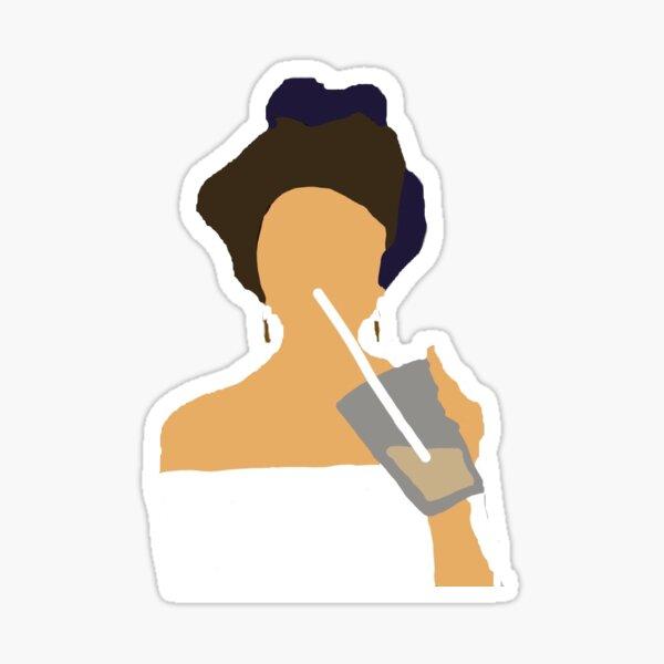 Selena Gomez con café Pegatina