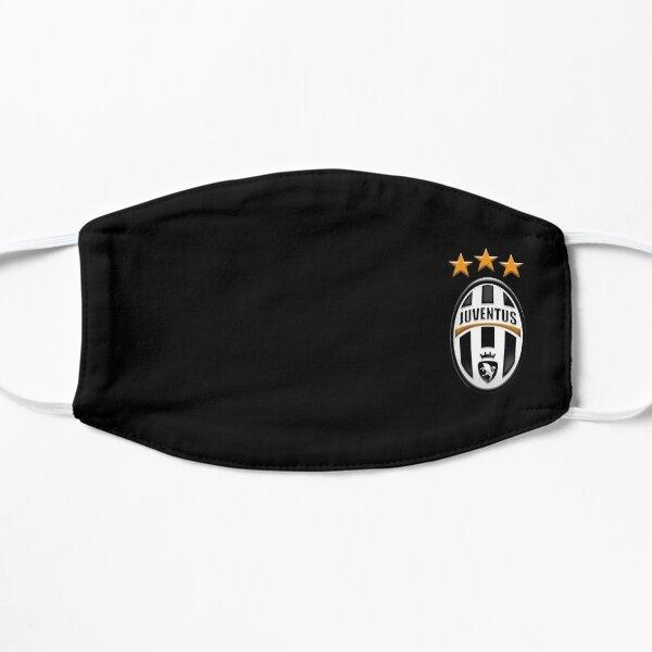 Juventus campeon tres estrellas Mascarilla plana